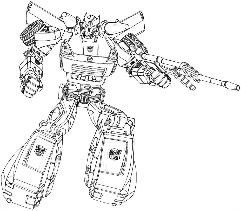 Dibujos para colorear – Transformers Prime, para niños