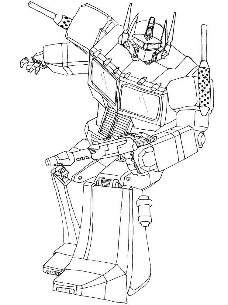 Transformer optimus prime coloring pages - Ratejna