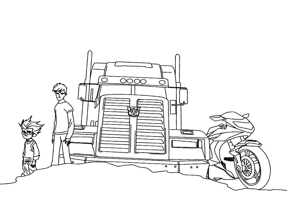 Lujo Transformadores Para Colorear Optimus Prime Composición ...
