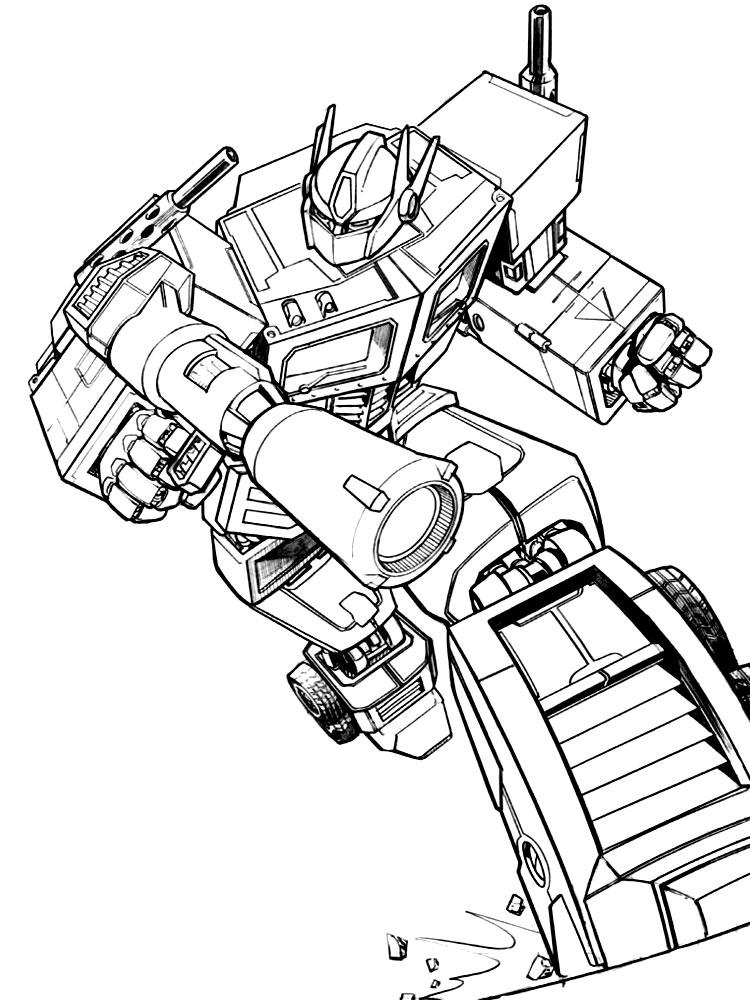 Descargar gratis dibujos para colorear – Transformers Prime.