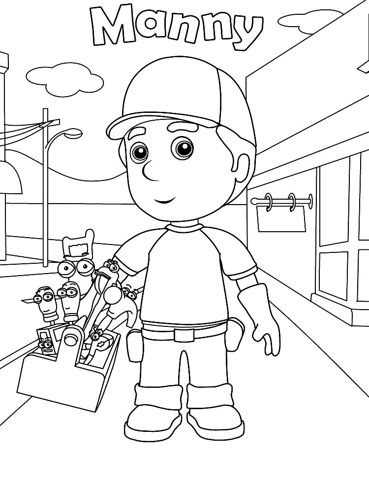Handy Manny Descargar Gratis Dibujos Para Colorear