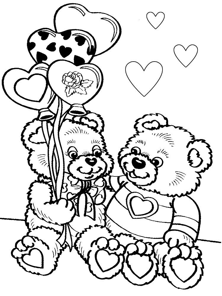 Día de San Valentín - dibujos infantiles para colorear