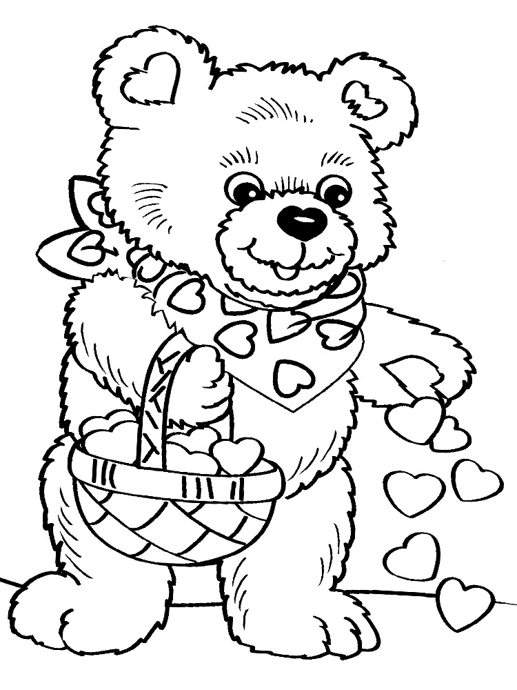 Dibujos para colorear – Día de San Valentín, para niñas y niños