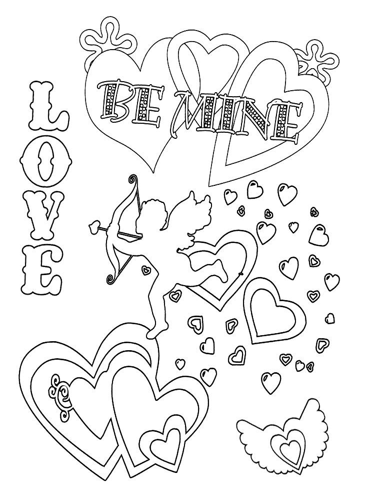 Descargar gratis dibujos para colorear – Día de San Valentín.