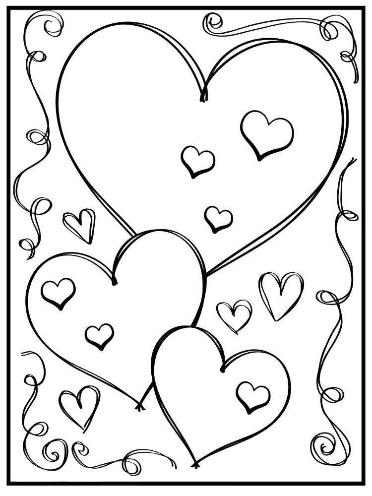 Gratuitos dibujos para colorear – Día de San Valentín, descargar e ...
