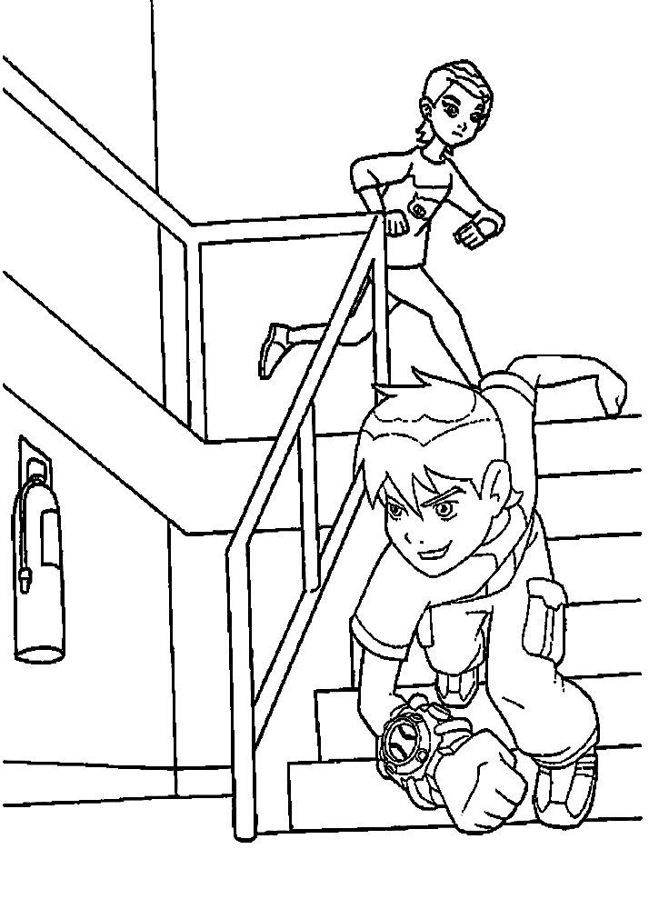 Dibujos para colorear – Ben 10, para niños