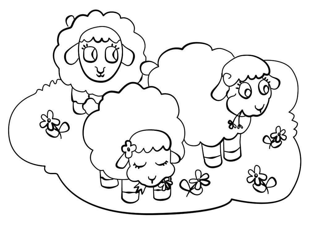Dibujos para colorear – granja, para niños