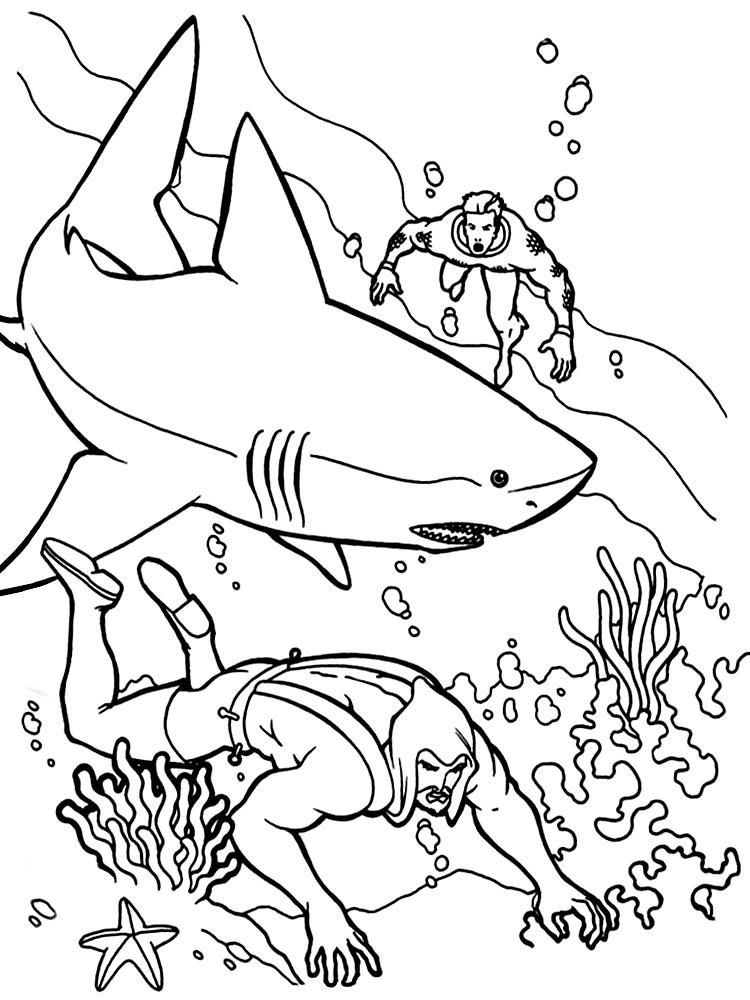 Dibujos infantiles para colorear – Aquaman, para desarrollar ...