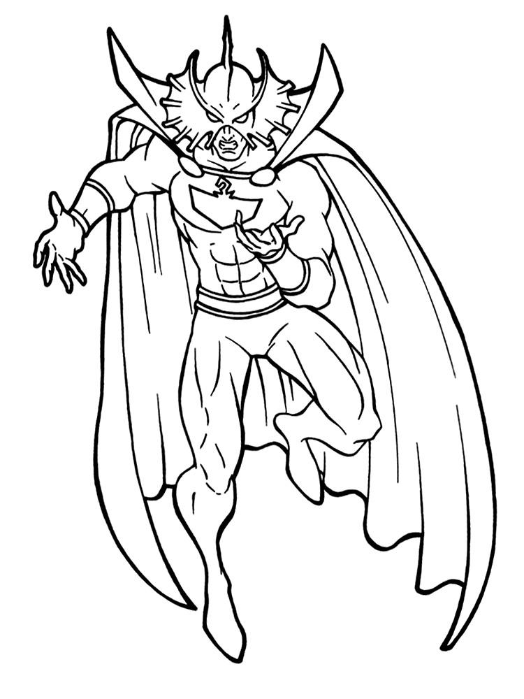 Dibujos animados para colorear – Aquaman, para niños pequeños.