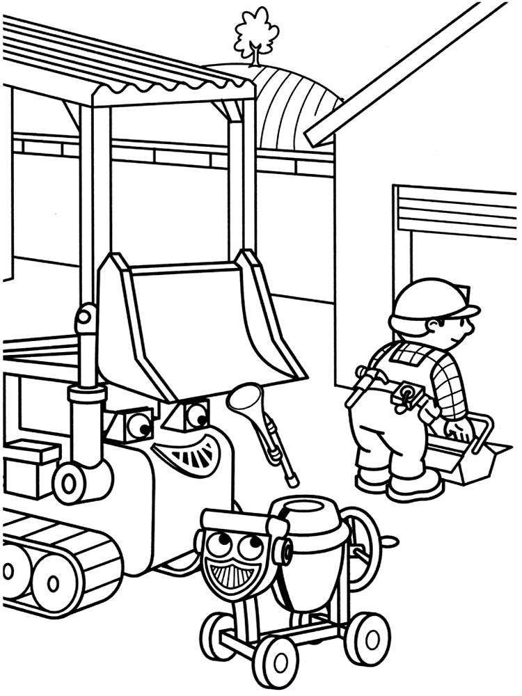 Dibujos para colorear - Bob el constructor.