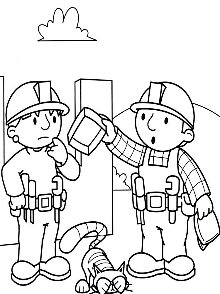 Dibujos infantiles para colorear – Bob el constructor, para ...