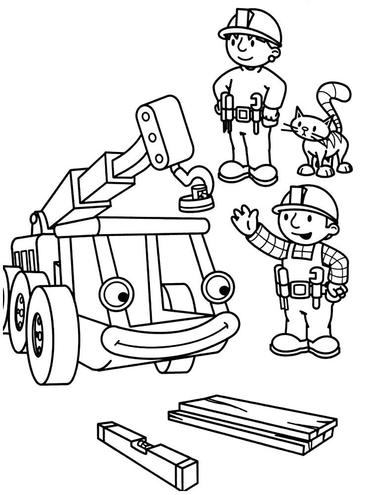 Dibujos animados para colorear – Bob el constructor, para niños ...