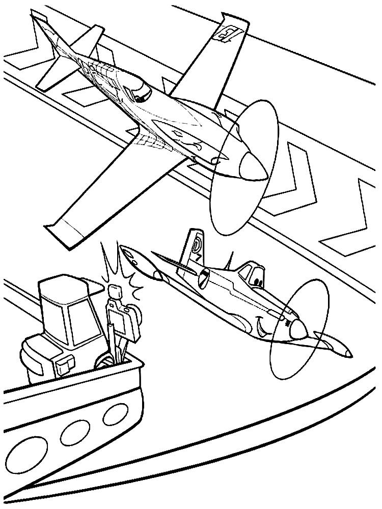 Dibujos Para Colorear De Aviones Infantiles Impresion Gratuita