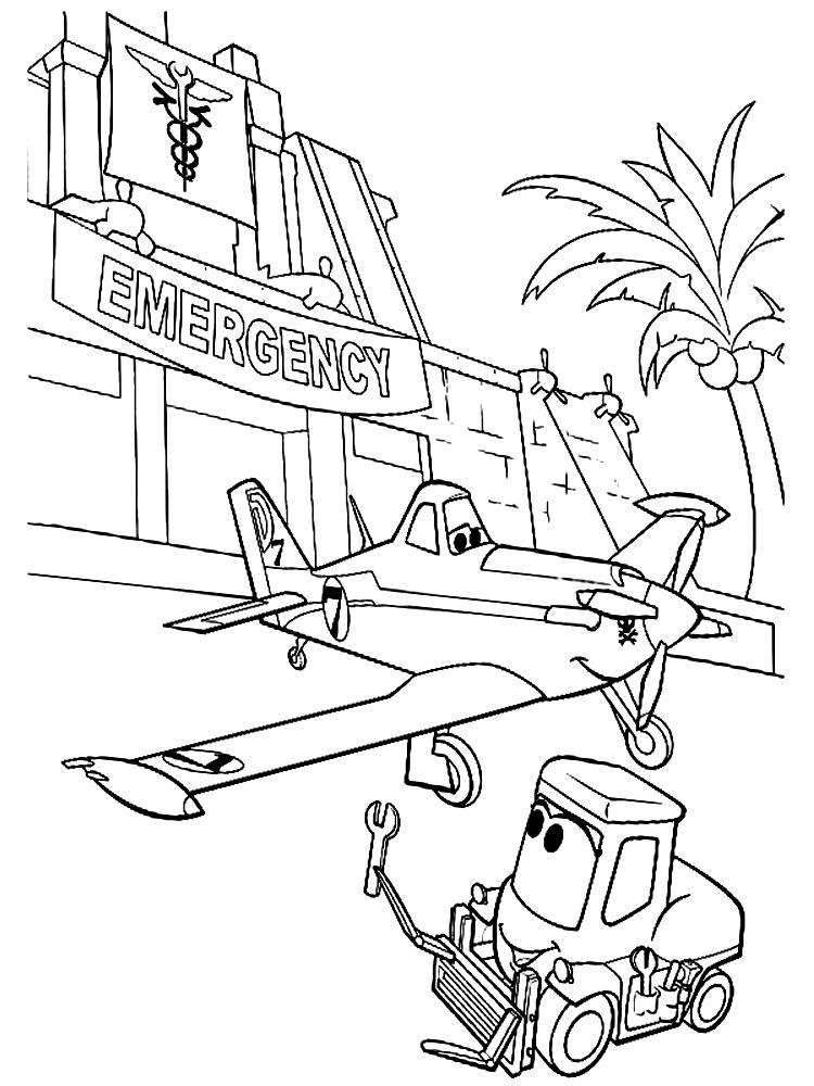 Descargamos dibujos para colorear – aviones.