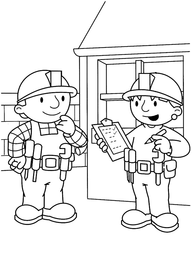 Algo útil para niñas y niños – dibujos para colorear – Bob el ...