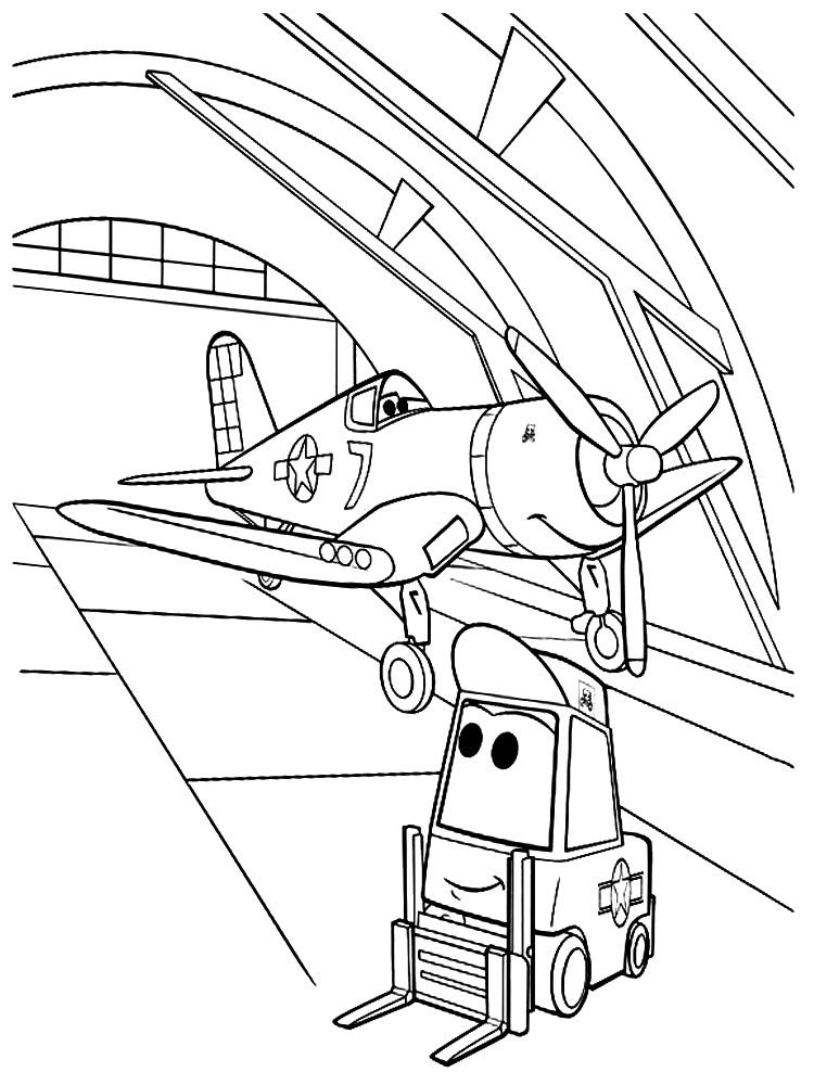Dibujos para colorear  aviones imprimir gratis