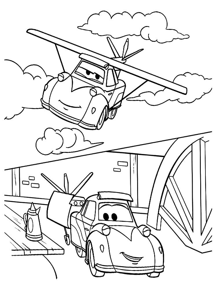 Aviones – dibujos infantiles para colorear