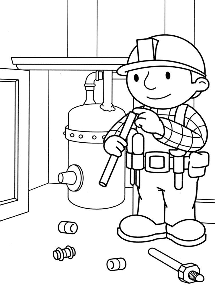 Bob el constructor – descargar gratis dibujos para colorear.