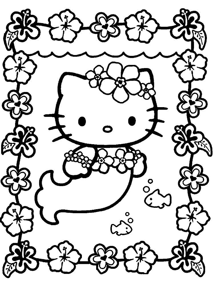 Dibujos Para Colorear Hello Kitty Para Niños