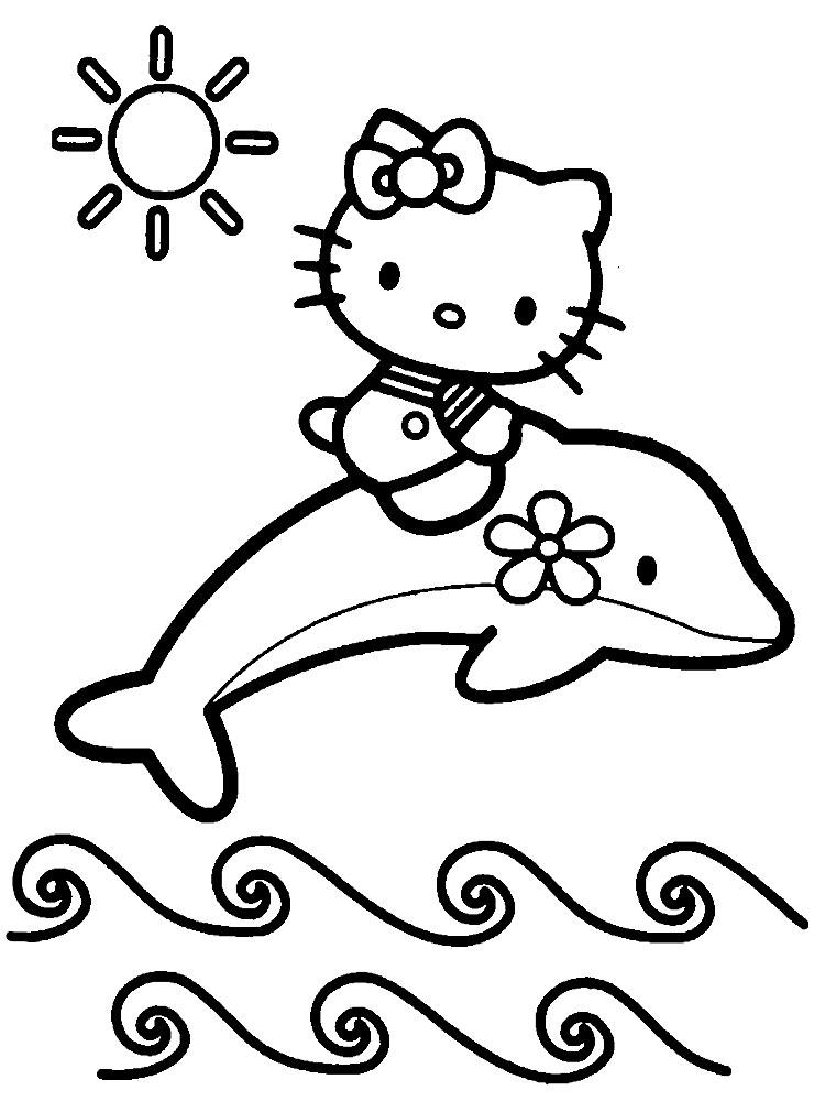Dibujos Para Colorear Hello Kitty Para Un Desarrollo Infantil En