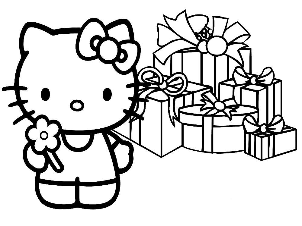 Dibujos para colorear – Hello Kitty, imprimir gratis