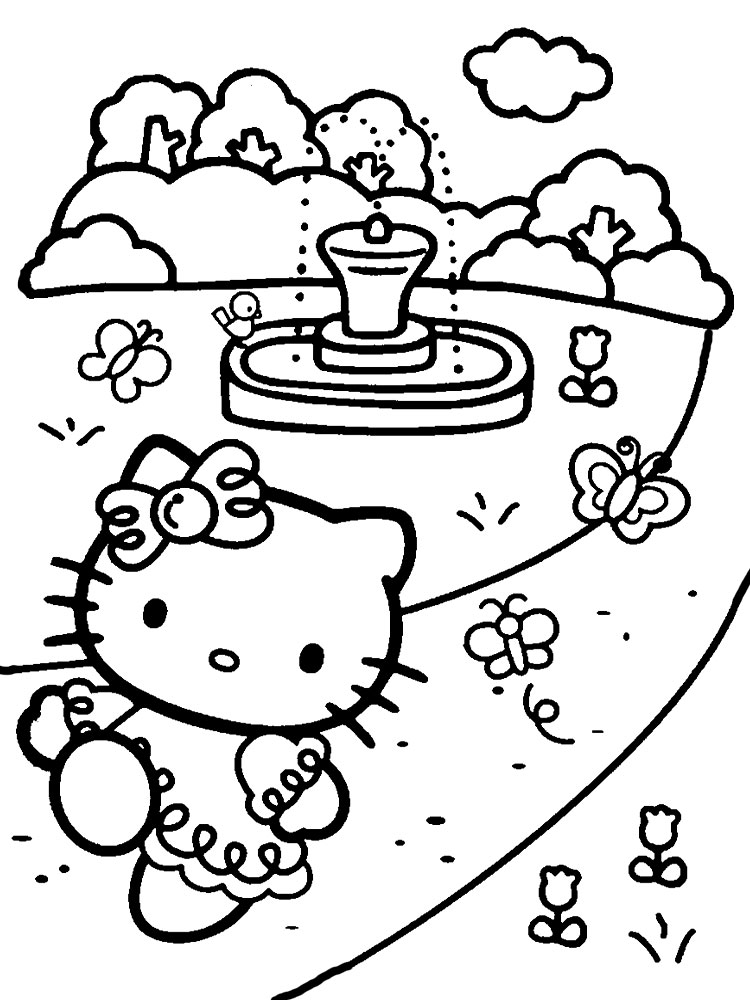 Imprimir Dibujos Para Colorear Hello Kitty Para Niños Y Niñas