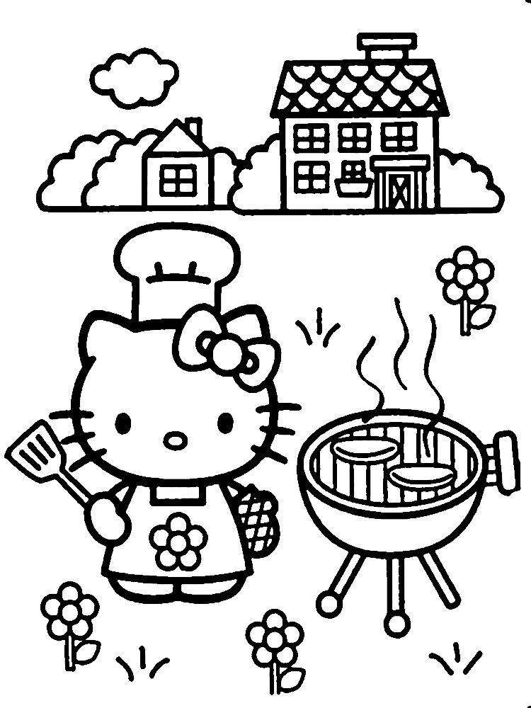 Hello Kitty Dibujos Infantiles Para Colorear