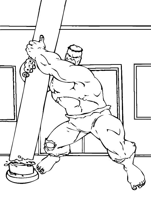 Dibujos para colorear - Hulk, para un desarrollo infantil ...