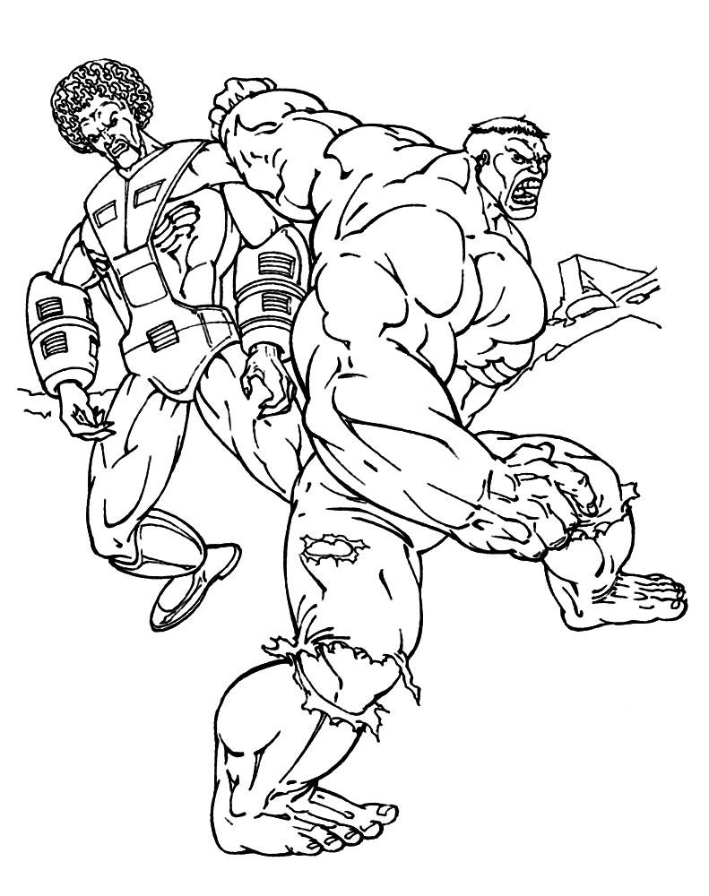 Dibujos para colorear – Hulk, imprimir gratis