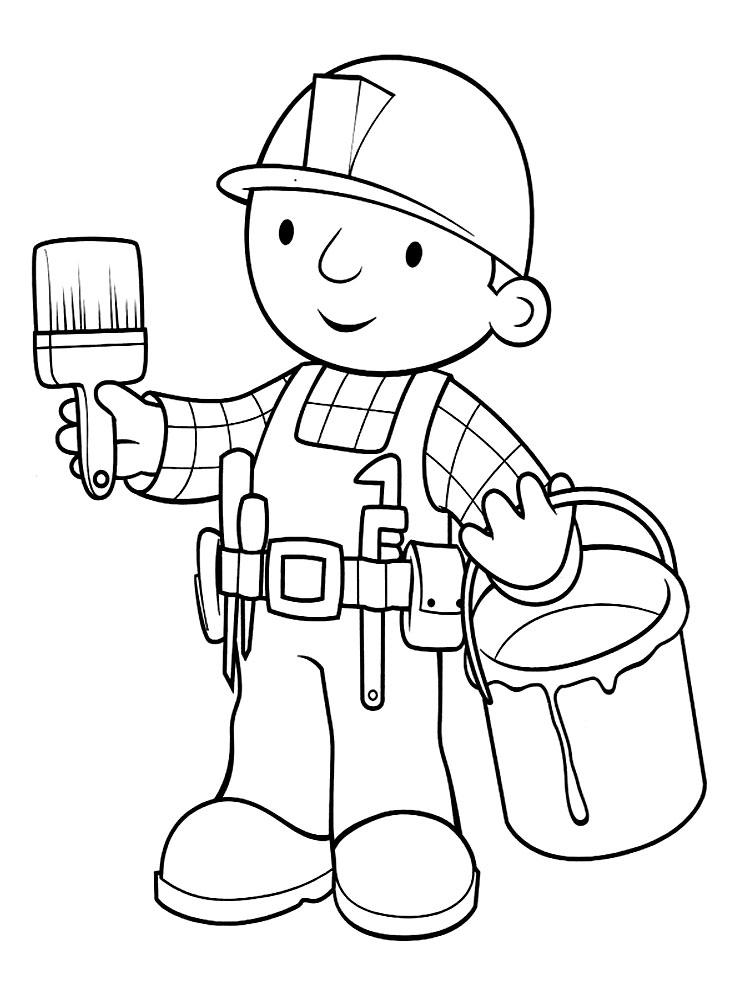 Dibujos para colorear – Bob el constructor, para desarrollar la ...