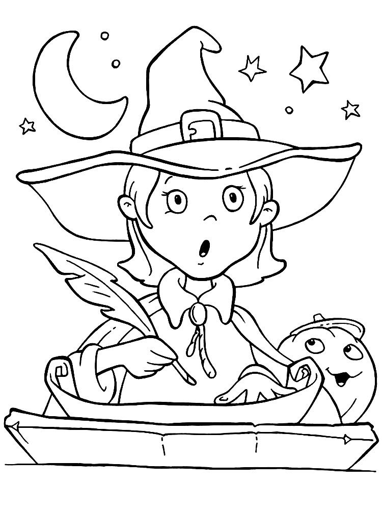Dibujos animados para colorear – Halloween, para niños ...