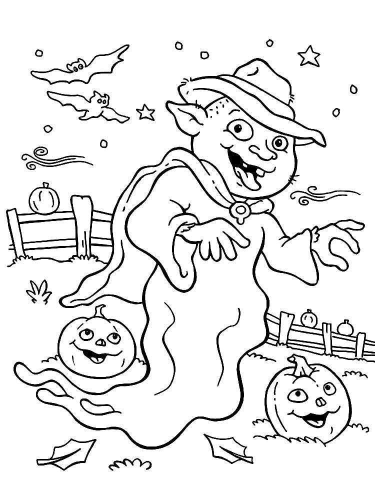 Imprimir gratis dibujos para colorear – Halloween