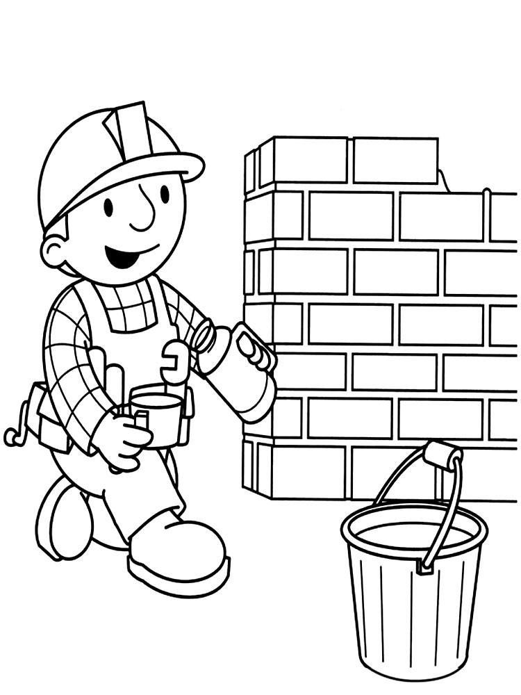 Imprimir imágenes dibujos para colorear – Bob el constructor, para ...