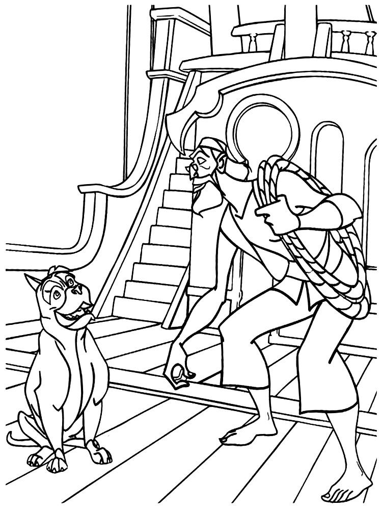 Simbad – descargar gratis dibujos para colorear.