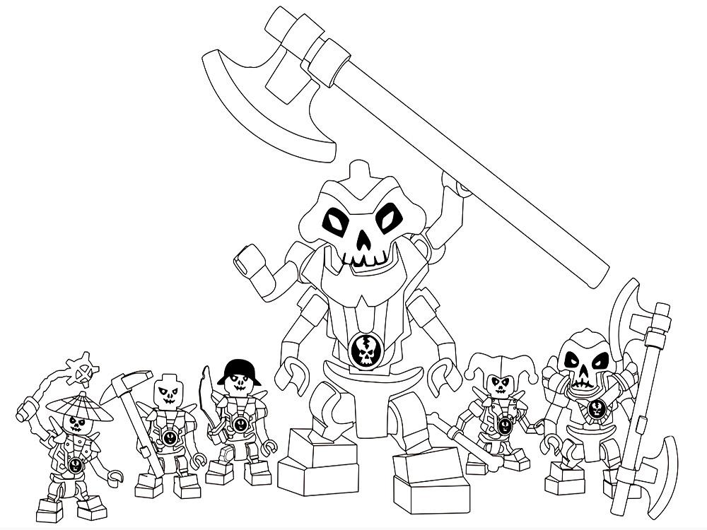 Dibujos para colorear – Lego Ninjago, para niños