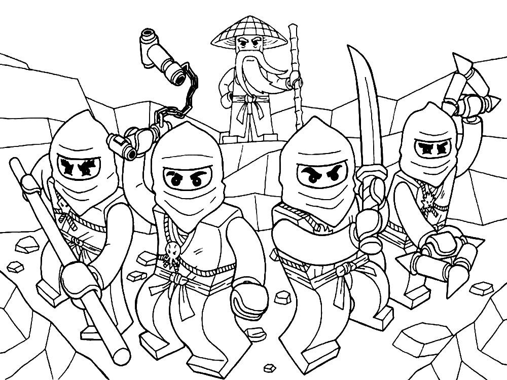 Descargue e imprima gratis dibujos para colorear – Lego Ninjago