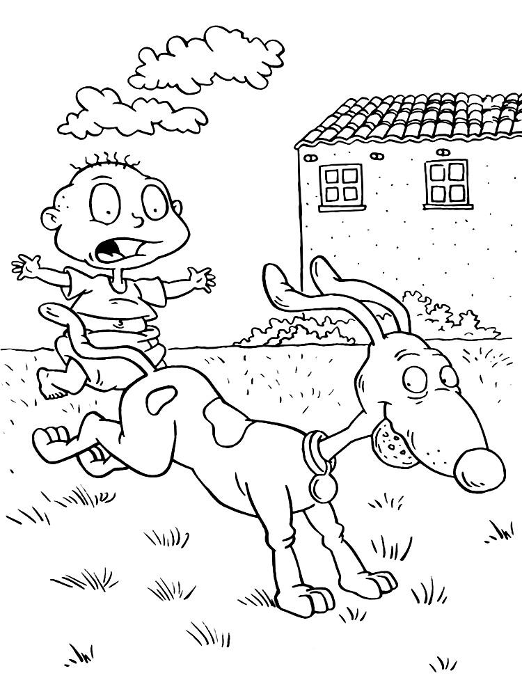 Dibujos para colorear – Rugrats, para niños