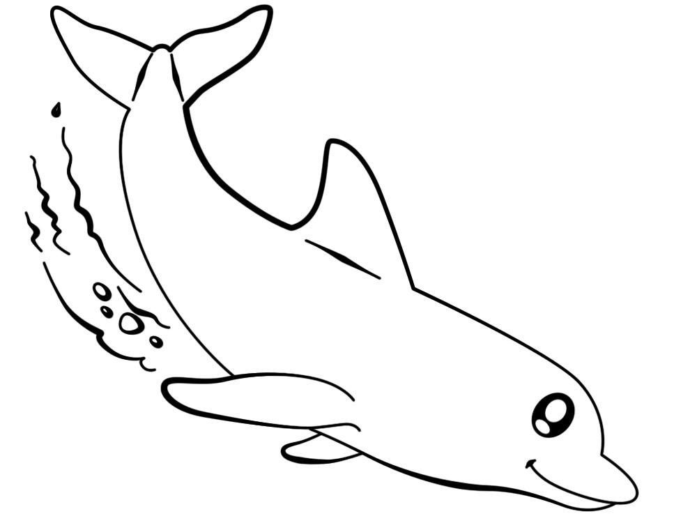 Imprimir gratis dibujos para colorear  delfines