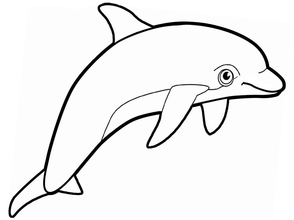 Lujo Hoja Para Colorear De Delfines Viñeta - Dibujos Para Colorear ...