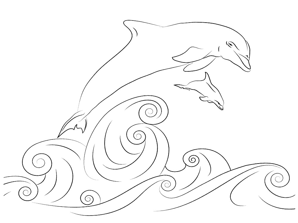 Descargue E Imprima Gratis Dibujos Para Colorear Delfines