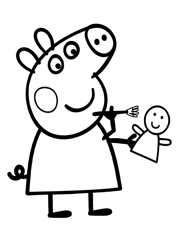 Dibujos para colorear – Peppa Pig, para un desarrollo infantil, en