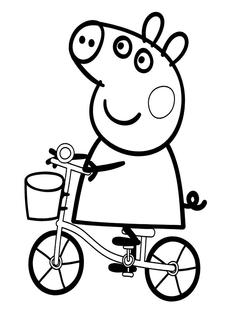 Algo útil para niñas y niños – dibujos para colorear – Peppa Pig