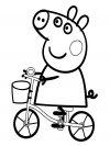 Dibujos para colorear - Peppa Pig, para niñas y niños