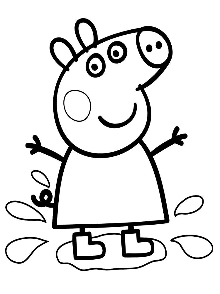Gratuitos dibujos para colorear – Peppa Pig, descargar e imprimir