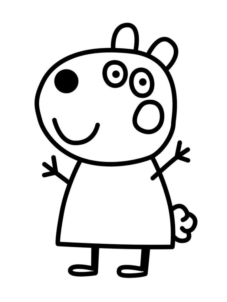 Dibujos Peppa Pig Para Colorear Cuentoslargos Com