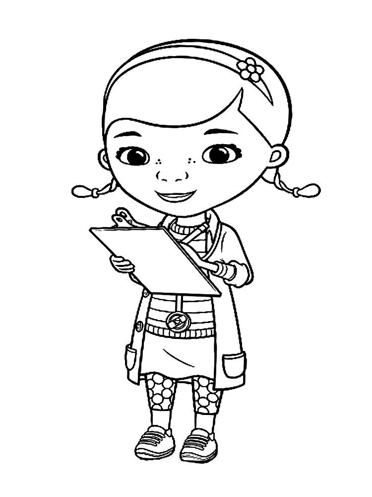 dibujos animados para colorear doctora juguetes para nios pequeos