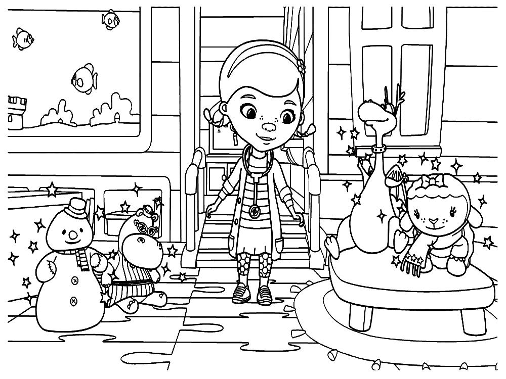 Imprimir gratis dibujos para colorear – Doctora Juguetes