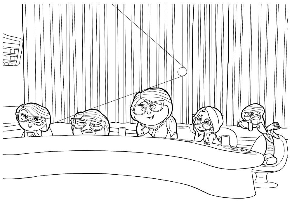 Dibujos infantiles para colorear – Inside Out, para desarrollar ...