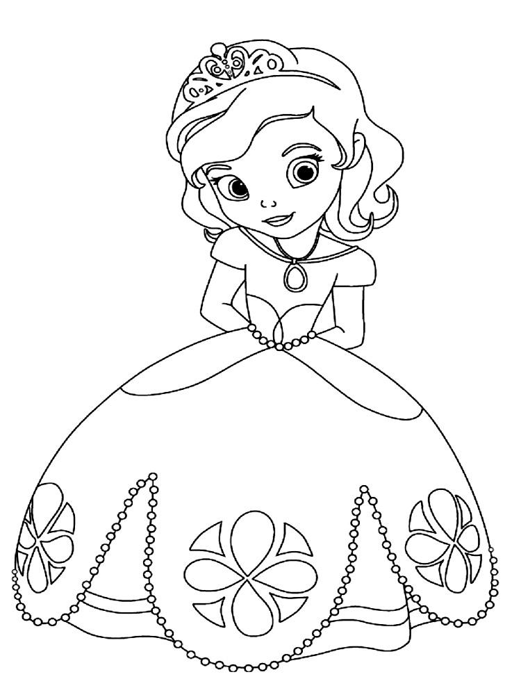 Dibujos para colorear - la Princesa Sofía.