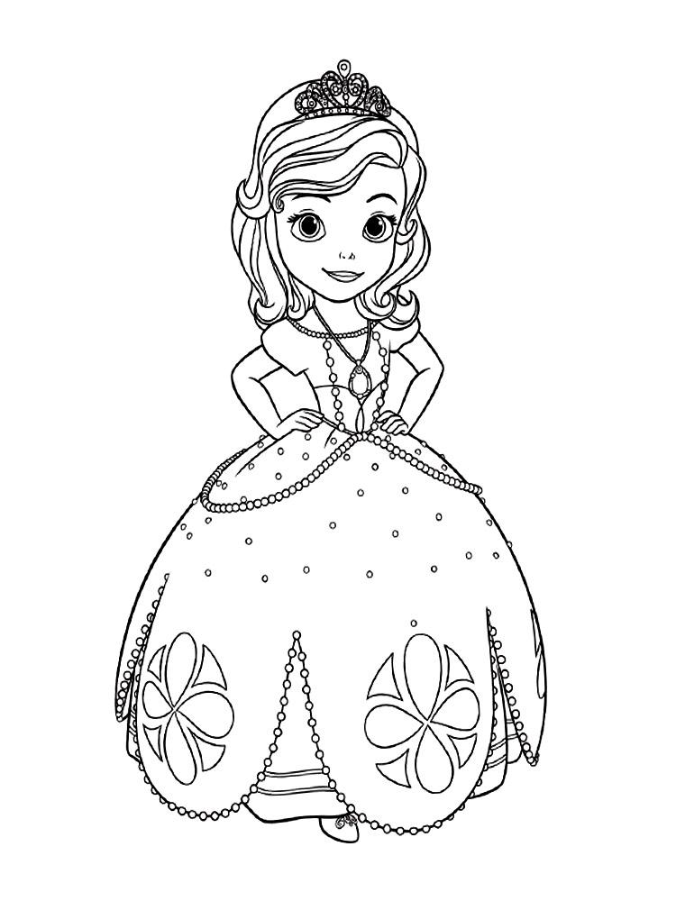Dibujos Para Colorear La Princesa Sofia Para Ninos